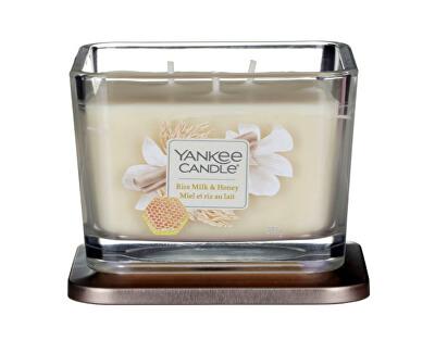 Aromatická svíčka střední hranatá Rice Milk & Honey 347 g