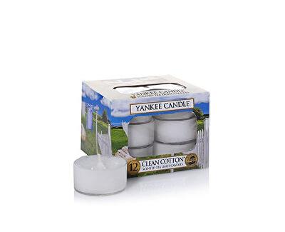Aromatické čajové svíčky Clean Cotton 12 x 9,8 g