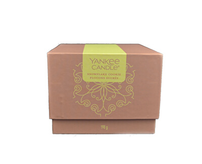Dárkový box se svíčkou Snowflake Cookie 198 g
