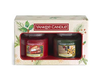 Vánoční sada střední svíčky Classic Singing Carols & Unwrap The Magic 2 x 411 g