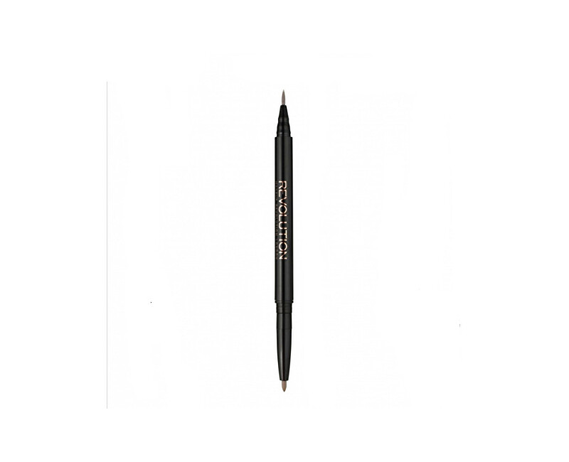 Makeup Revolution Oboustranná fix-tužka na obočí (Brow Dual Fair Ultra Brow Arch & Shape) 0,24 g Fair