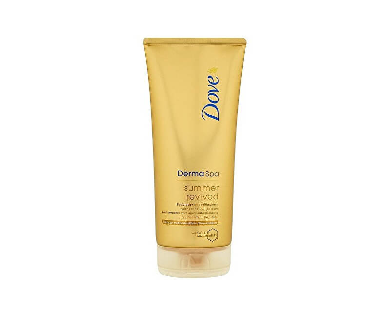 Dove Tónovací tělové mléko Derma Spa Summer Revived Dark (Body Lotion) 200 ml