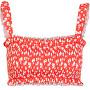 Női bikini felső  PCNIKITA 17101700 High Risk Red AOP:FLOWER PRINT