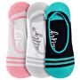 3 PACK - Low socks S19 G/Small Stripes női zokni