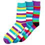 3 PACK -  Dark Small Stripe socks S19 Multipack - férfi zokni