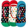 3 PACK - dámské ponožky Low socks S19 C/Big Dots 2