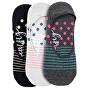 3 PACK - dámské ponožky Low socks S19 F/Dots, Stripes