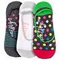 3 PACK - dámské ponožky Low socks S19 L/Fuchsia