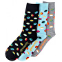 3 PACK - ponožky Oval socks S19 Multipack