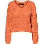 Maglione da donna VMDEYRA LS  V-NECK BLOUSE Coral Rose