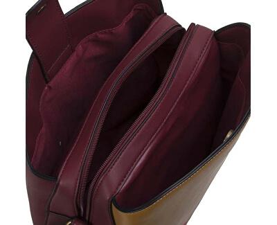 Dámska crossbody kabelka Elise Bucket 30774 Burgundy