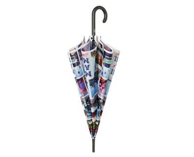 Umbrelă pentru femei The Cities Theme Walking Stick 25826MI