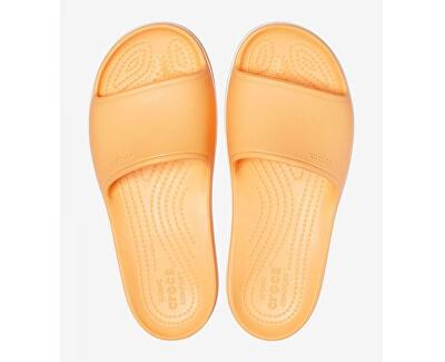 Dámské pantofle Crocband Platform Slide Cantaloupe/White 205631-82S