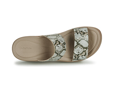 Dámské pantofle Crocs Brooklyn Mid Wedge W Multi/Stucco 206219-93T