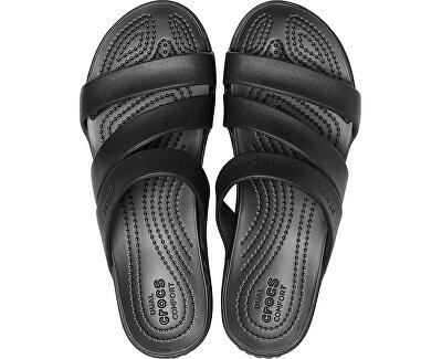 Dámské pantofle Crocs Monterey Wedge W Black 206304-001