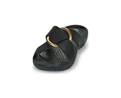 Dámské pantofle Crocs Serena Cross Band Slde W Black 206099-001