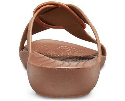 Dámské pantofle Crocs Serena Cross Band Slde W Bronze 206099-854