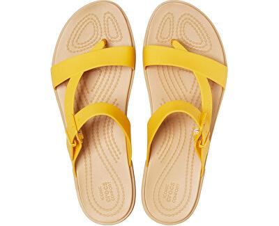 Dámské žabky Crocs Tulum Toe Post Sandal W Canary/Tan 206108-75Q