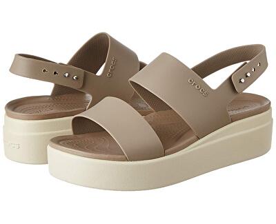Dámské sandále Crocs Brooklyn Low Wedge W Mushroom/Stucco 206453-15W