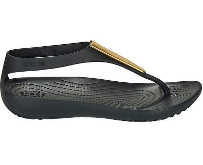 Dámské sandále Crocs Serena Metallic Bar Fp W Gold/Black 206420-751