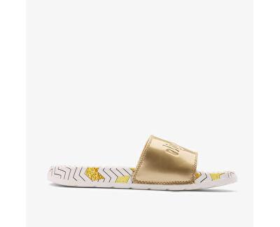 Női papucs Cleo White/gold Zigzag