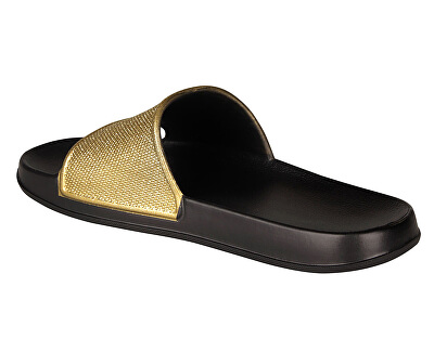 Ciabatte da donna Tora Black/Gold Glitter 7082-302-2200