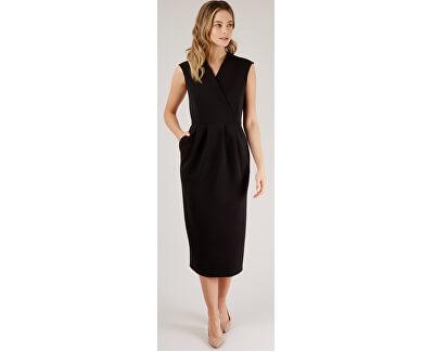SLEVA - Dámské šaty Closet Princess Seam Wrap Dress Black