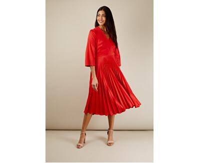Dámske šaty Closet Wrap Pleated Dress Red
