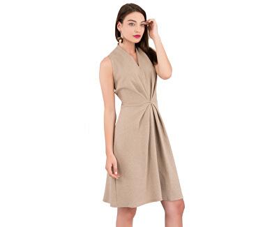 Dámske šaty Closet Centre Pleats A- Line Dress Beige
