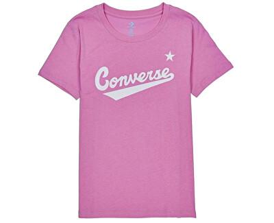 Dámské triko Converse W Womens Nova C.Front Logo Tee Peony Pink