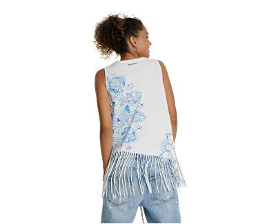 Maglietta senza maniche da donna Ts Flecos Blanco 20SWTKCU 1000