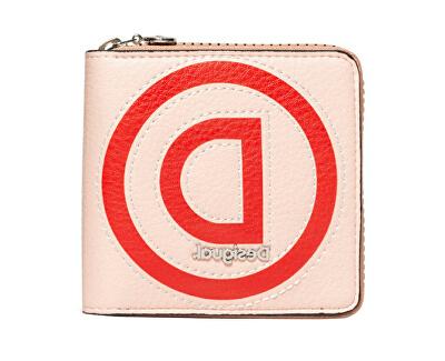 Portofel pentru femei Mone Logo Patch Zip Square Beige 20SAYP34 6008
