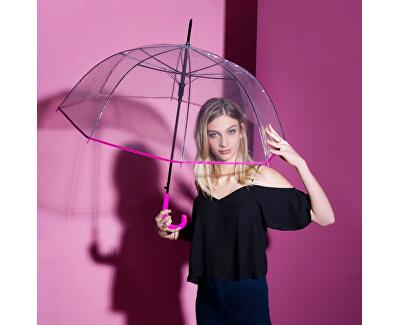 Umbrelă pentru femei de tip baston HitLong Automatic transparent Glocke77354B 03