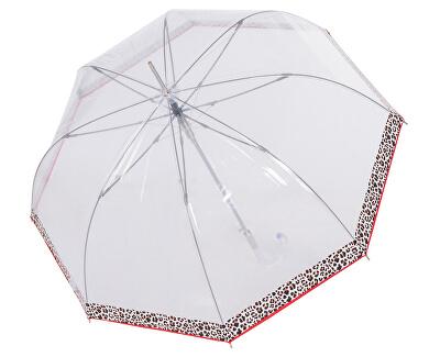 Umbrelă pentru femei Fiber Long Automatic transparent Leo 7405427L