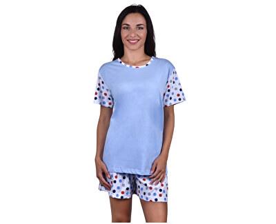 Dámske krátke pyžamo LINDA bodkami