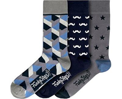 3 PACK - férfi zokni FSA435