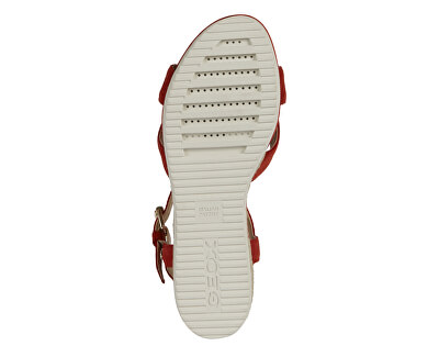 Sandale pentru femei D Ischia Corda Red D02HHC-00022-C7000