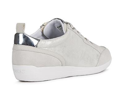 Sneakers da donna D MyriaSilver / Wht off-D0268A 07722-C0628