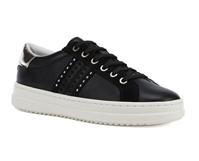 Sneakers da donna D Pontoise Black / Lt GoldD02FED-085BN -C9258