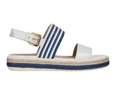 Sandale pentru femei D Sandal Leelu` White/Blue D02GFE-04311-C0006