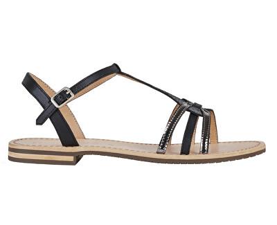 Sandale pentru femei D Sozy Black/Gun D022CG-01JMA-C9B1G