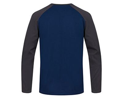 Tricou bărbătesc cu baneci lungi NEBU poseidon mel / magnet