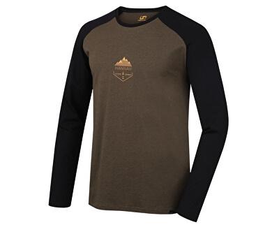 Tricou bărbătesc cu mâneci ungă NEBU plantation mel / antracit