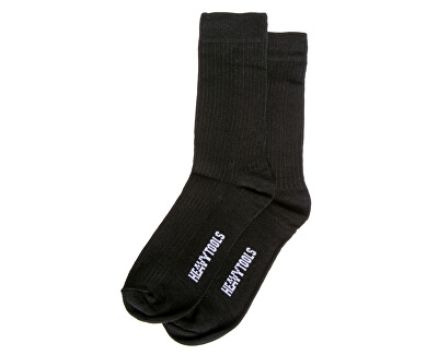 2 PACK - pánske ponožky Black H2W19613BL