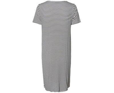 Dámské šaty Billo SS Dress Noos Bright White/Maritime Blue