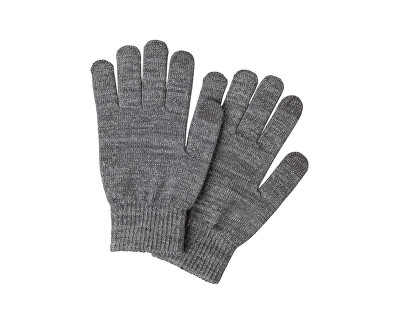 Dámske rukavice PCRUBI SMART GLOVE Medium Grey Melange