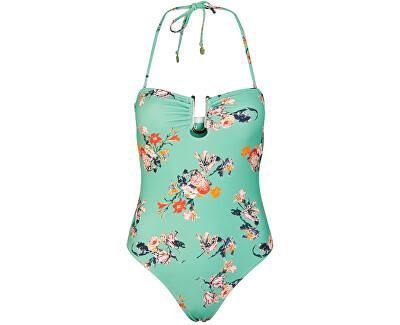 Egyrészes fürdőruha PCNYNNE 17101716 Malachite Green AOP:FLOWER PRINT