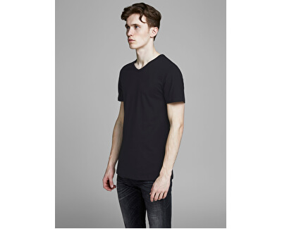 2 PACK - pánské triko JACBASIC 12133914 Black