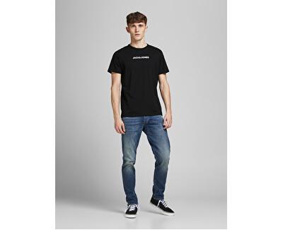 3 PACK - pánské triko JACRAIN Regular Fit 12184812 Black