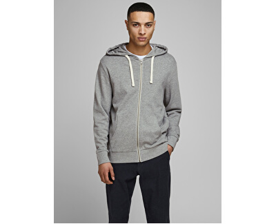 Felpa da uomo JJEHOLMEN 12136884 Light Grey Melange